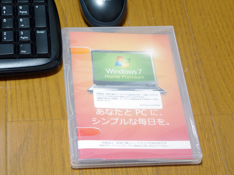 今回はWindows7 Home Premiumです。