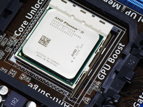 AMD CPUの取付完成図