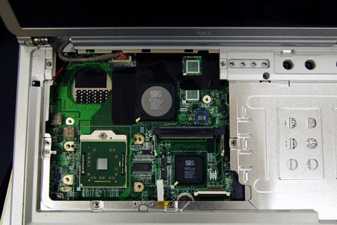 Lavie LL350/Cの分解したところ、、CPUも丸見えです。