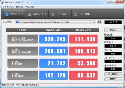 C400secureerase後