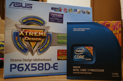core i7とASUS P6X58D-Eの組み合わせです。