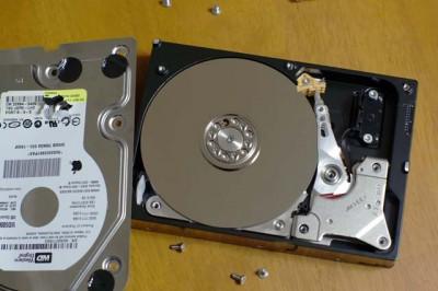 ウェスタンデジタルのディスク内部です。